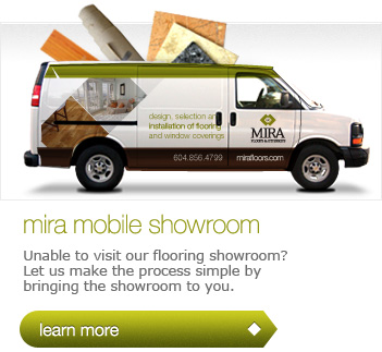 Vancouver Flooring Installation: MIRA Mobile Flooring Showroom